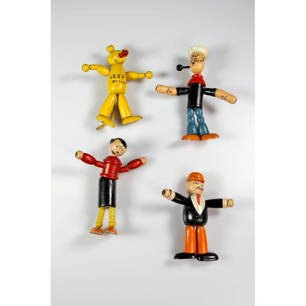 Popeye - Wood string jointed dolls
